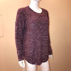 SO Kohl's Purple & White Acrylic Pullover Sweater